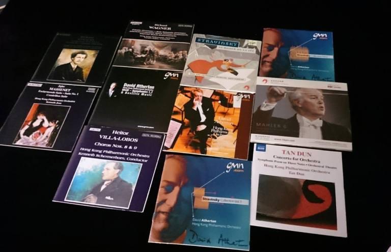 E君收藏的部份港樂唱片,許多是港樂網站也沒有記載。