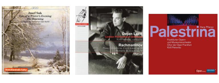 左起:Josef Suk管弦樂作品(2008)、Dejan Lazic的拉二鋼協(2009)、Hans Pfitzner歌劇《Palestrina》(2012)